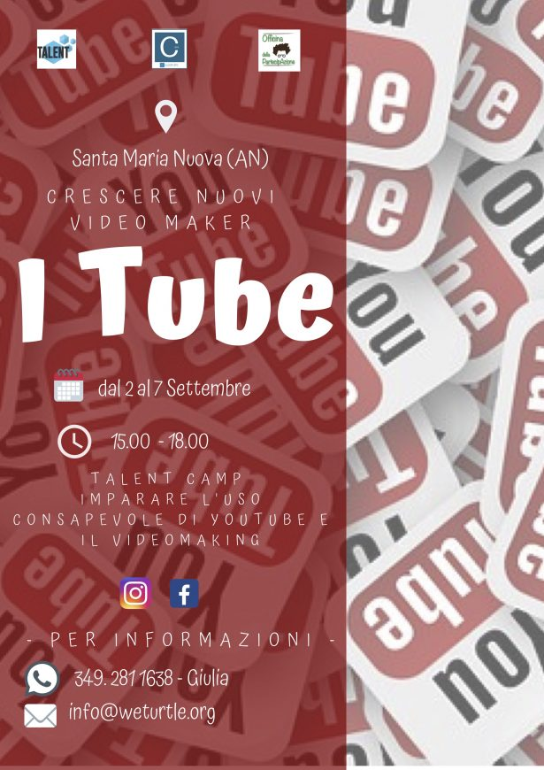You Tuber? No…I Tube! Camp Talent per Giovani Video Maker!